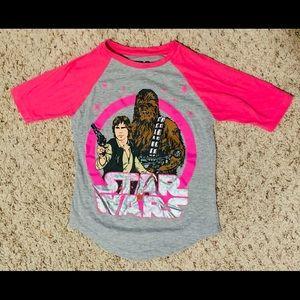 Girls Star Wars shirt, size Small